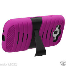 Samsung Galaxy S3 i9300 Hybrid H Armor Hard Case Skin Cover w/Stand Pink Black