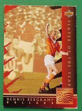 RARE FOOTBALL CARD UPPER DECK 1994 USA 94 HOLOGRAMME DENNIS BERGKAMP NEDERLAND