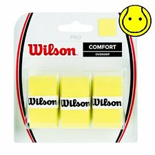 Wilson YELLOW Pro Overgrip Comfort - 3 Pack - Tennis