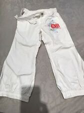 Girls White Cakewalk Trousers Age 4 USA 8
