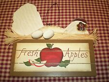 Primitive Country Wood Sign Chicken hen in Apple Box