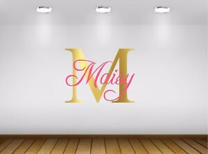 Custom Name Personalised Baby Child Bedroom Nursery Wall Sticker Decal