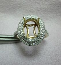 NATURAL DIAMOND SOLID 14k yellow GOLD SEMI MOUNT RING