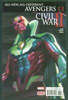 Avengers #13 VF/NM Civil War II Marvel Comics 2016 Vision Cover