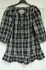 JACK WILLS LADIES CHECKED BLOUSE SIZE 8
