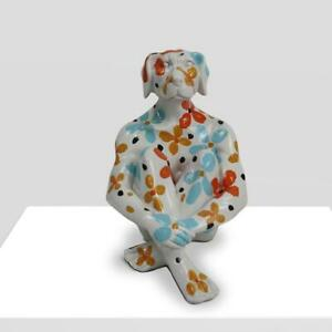GILLIE AND MARC. Direct from the artists. Mini Splash Pop Dogman Resin White
