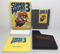 Nintendo NES Super Mario Bros. 3 Complete in Box CIB *Authentic/Cleaned/Tested*