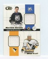 VINCENT LECAVALIER Primeau Barnaby Kraft 2001-02 Heads-Up QUAD Game-Worn Jersey