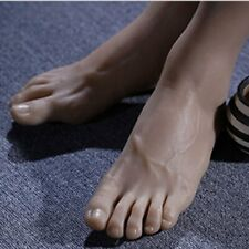 New 1 Pairs Silicone Realistic Size Lifesize Male Model Feet Show Jewelry & Shoe