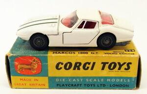 Corgi Toys Vintage Diecast Model Car 324 - Marcos 1800 GT - White