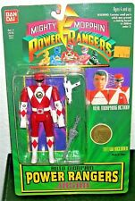 '94 Mighty Morphin RED POWER RANGERS ACTION FIGURE Jason Bandai Sealed toy #2310