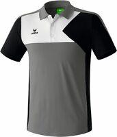 Erima PREMIUM ONE Poloshirt, Gr. XL, Herren, Grau/Schwarz/Blau, Polo, UVP 44,95