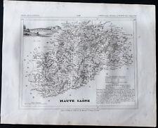 1833 - Haute Saône - Carte ancienne du département - Gravure Monin & Ales