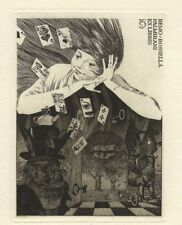 Ex libris by K. Kalinovich ALICE IN WONDERLAND Original Etching Signed Limited