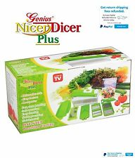 Vegetable Fruit Nicer Dicer Slicer Cutter Plus Container Chopper Peeler 12pcs