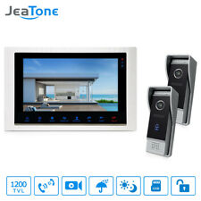"""JeaTone 10"""" TFT wired 1200TVL Video Home Phone Doorbell Security Intercom System"""