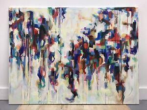 Original Art Abstact 120cm x 90cm Acrylic Painting Canvas Artwork Warren Green