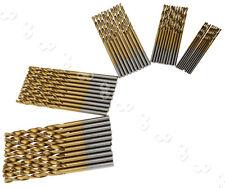 50x 1/1.5/2/2.5/3mm Titanium Coated HSS Speed Steel Drill Bit Wood/Plastic/Metal