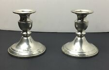 (2) STIEFF Pewter Candlesticks Candle Holders.  Preowned. Scratched & Marked.