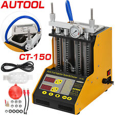 CT150 Auto Fuel Injector Cleaner Tester Cleaning Tank 4-Cylinder Gasoline