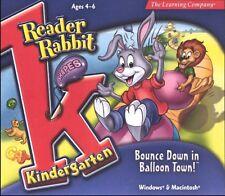 Reader Rabbit Kindergarten Bounce Down in Balloon Town Pc Mac New Cd Win10