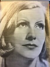 HUGE Vintage 1960s~GRETA GARBO~Movie Dream Queen Poster