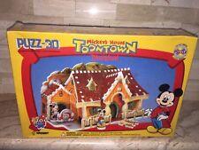MICKEY'S HOUSE TOONTOWN DISNEYLAND WREBBIT PUZZ 3-D NEW