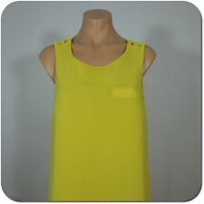 FOREVER 21 Women/Juniors Yellow Swing Tank Top, Two Layer, size S