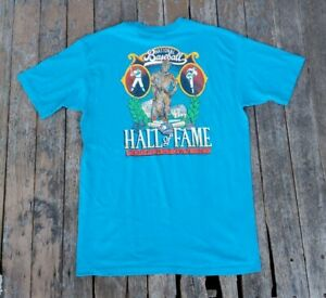 Vintage Baseball Hall Of Fame Cooperstown New York T Shirt 1989 blue