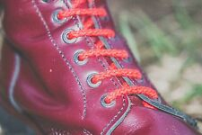 """30 Hole Boot Laces - MOD Fashion High Quality Replacement Bootlaces 137""""  RED"""