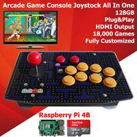 Retro Arcade Game Console All In One 128G Raspberry PI 4 Model B 4GB Plug Play