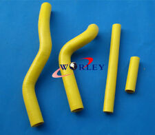 Fit SUZUKI RM 125 RM125 2001-2008 05 2006 2007 08 silicone Radiator Hose yellow