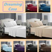 Egyptian Comfort 1800 Count 4 Piece Deep Pocket Bed Sheet Set King Queen Size G2