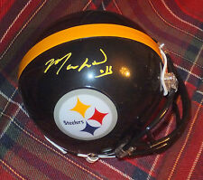 MARKUS WHEATON Steelers Autographed Mini Helmet with BDS COA  #2500
