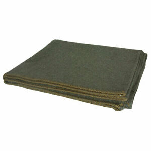 "wool survival camp blanket olive drab 60"" x 80"" fox 818-5"