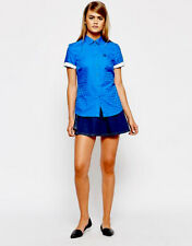 FRED PERRY ladies Refresher Blue shirt size 6