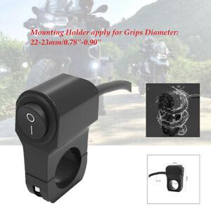 Black Motorcycle Handlebar Light On Off Switch Waterproof IP65 ATV Headlight Fog