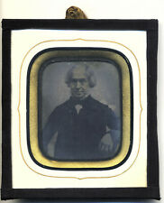 British Ambrotype in glass passe-partout frame
