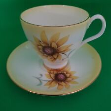 RARE ROYAL ALBERT SUNFLOWER COFFEE CUP AND SAUCER