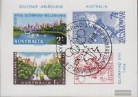 Australien 266-269 B Souvenirblock mit Olympiadestempel gestempelt 1956 Olympisc