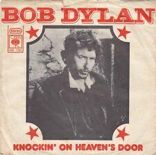 "BOB DYLAN KNOCKIN' ON HEAVEN'S DOOR / TURKEY CHASE 1973 RECORD YUGOSLAVIA 7"" PS"