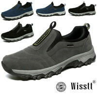 Men's Big Size Breathable Mesh Slip On Comfy Shoes Casual Soft Walking Sneakers