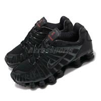 Nike Shox TL Total Black Max Orange Mens Running Shoes Sneakers AV3595-002
