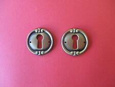 Schlüsselschild (2 Stück) rund 30mm messingfarbig/brüniert altmessingfarbig