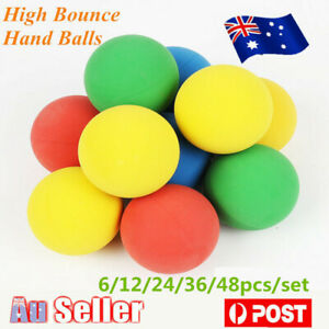 48/36/24/12/6pcs High Bounce Square Hand Ball Handballs Anti Stress Reliever Toy