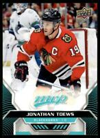 2020-21 UD MVP Base SP #205 Jonathan Toews - Chicago Blackhawks