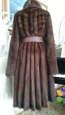 ITALY Extra Large Saga Mink Fur Coat Mantel Pelz Jacket Sable Fox lynx M-L-XL