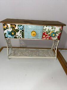 The Pioneer Woman Floral Holiday Mug Rack Shelf With 3 Drawers