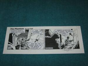 Vintage Lee Falk's THE PHANTOM Comic Strip ORIGINAL ART Paul Ryan BEAUTY!