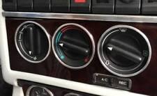 D Audi 80 90 B3 B4 Chrom Ringe für Gebläseschalter -  Edelstahl - 3 Ringe